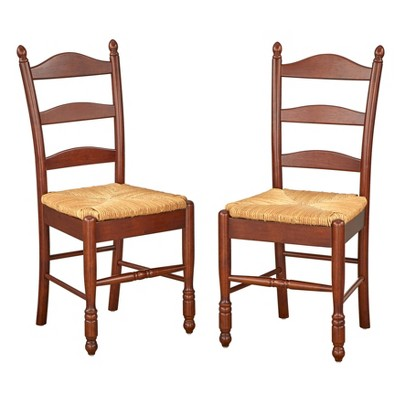 Set of 2 Ladder Back Dining Chairs - Buylateral