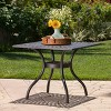 Austin Square Cast Aluminum Dining Table - Shiny Copper - Christopher Knight Home - image 2 of 4