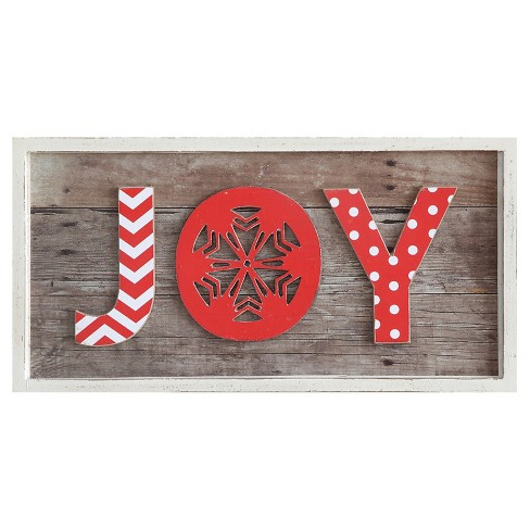 Joy Wooden Wall Decor - image 1 of 1