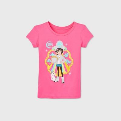 Girls' Netflix 'Girl's Over the Moon' Short Sleeve Graphic T-Shirt - Pink