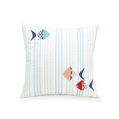 "16""x16"" Go Fish Decorative Throw Pillow - Vera Bradley"