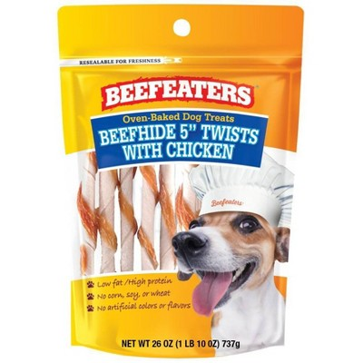 """Beefeaters Beefhide 5"""" Twists with Chicken Chewy Dog Treats - 26oz"""