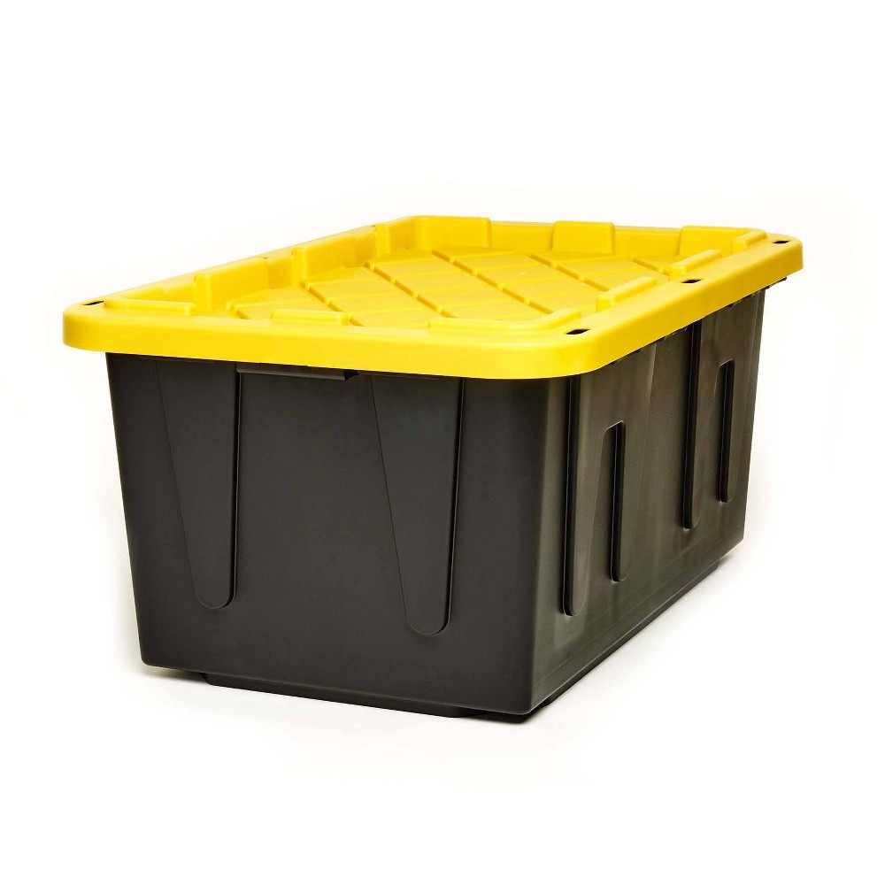 Image of 2pk 27gal Durabilt Tough Container - Homz, Black Yellow