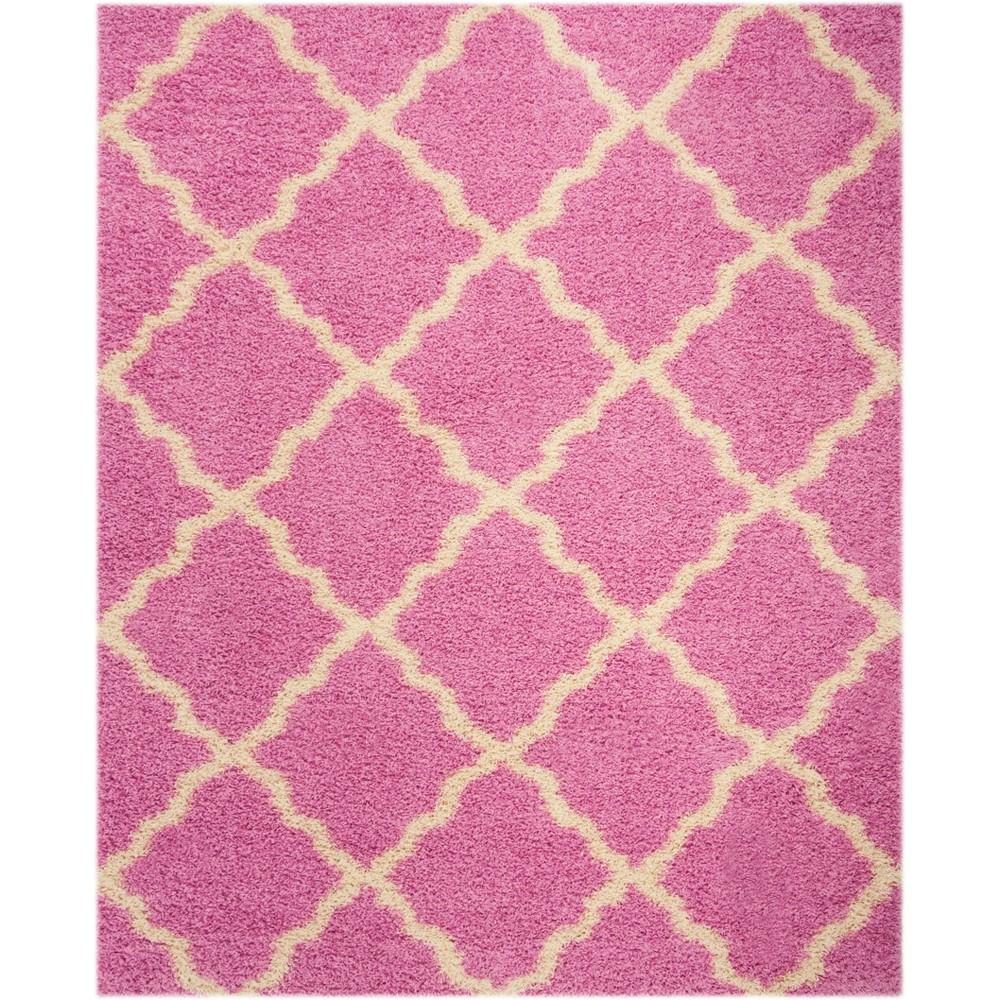 Quatrefoil Design Loomed Area Rug Pink/Ivory