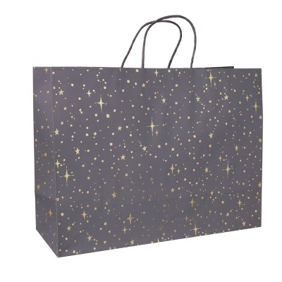 Foil Star Dotted Medium Gift Bag Gray - Spritz™