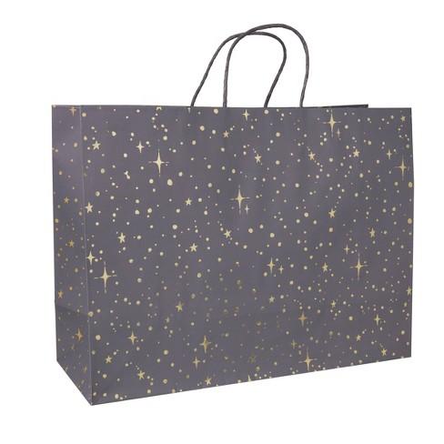 Large Foil Star Dotted Vogue Gift Bag Black - Spritz™ - image 1 of 1