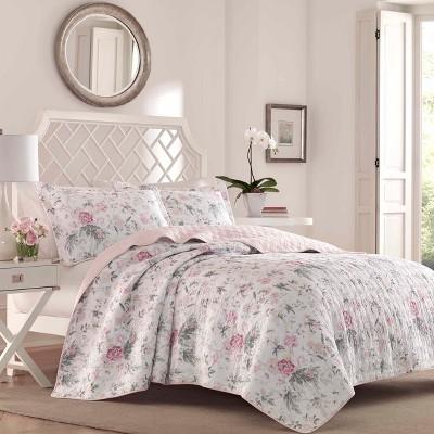 Pink Breezy Floral Quilt Set - Laura Ashley