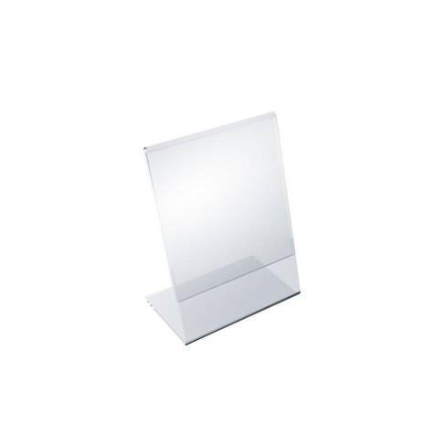 "Azar Displays 3.5"" X 5"" 10pk Vertical Slanted, L - Shape Acrylic Sign Holder - image 1 of 1"