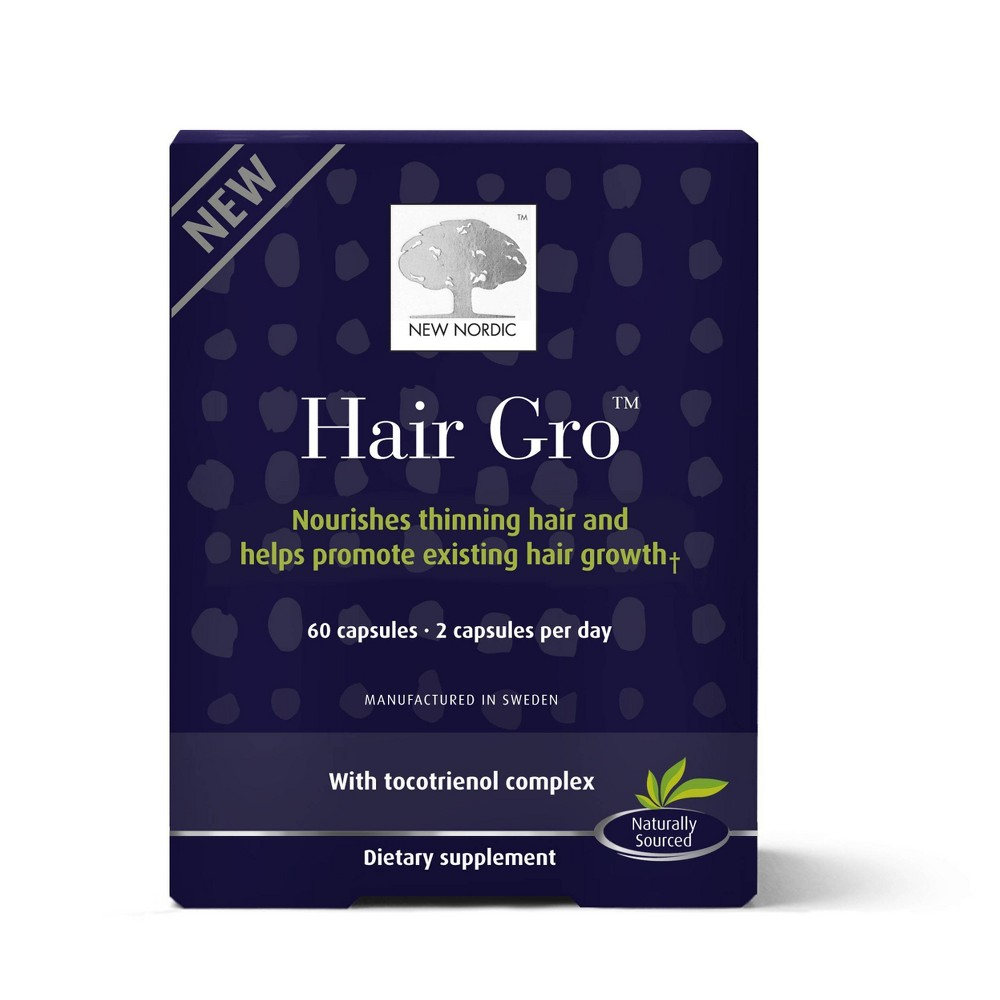 New Nordic Hair Grow Vegan Tablets - 60ct, Adult Unisex