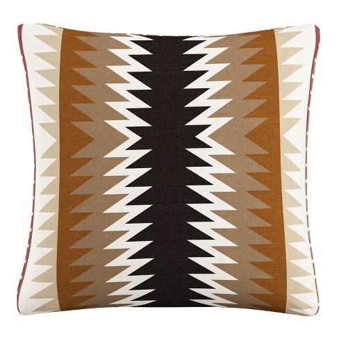 Throw Pillow Skyline Furniture Tan Beige Maroon Cream - image 1 of 4