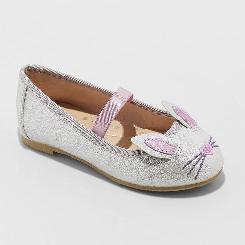 30f6180dd6b82 Toddler Girls  Revah Glitter Ballet Flats - Cat   Jack™ Silver   Target