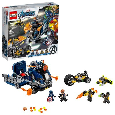 LEGO Marvel Avengers Truck Take-Down Captain America and Hawkeye Set 76143
