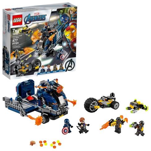 Lego Marvel Avengers Truck Take Down Captain America And Hawkeye Set 76143 Target