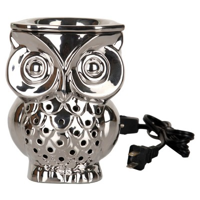 Owl Shaped Electric Fragrance Warmer Silver - Home Scents By Chesapeake Bay Candle