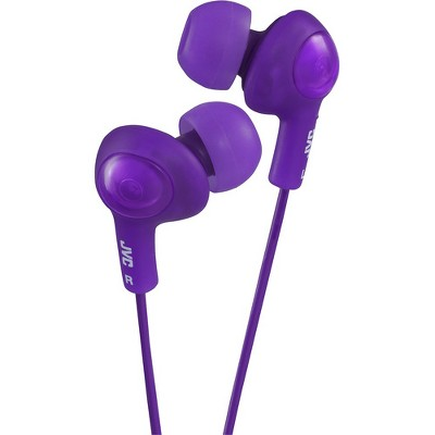 JVC Gumy Plus HA-FX5-V Earphone - Stereo - Violet - Mini-phone - Wired - 16 Ohm - 10 Hz 20 kHz - Gold Plated Connector - Earbud - Binaural - Open