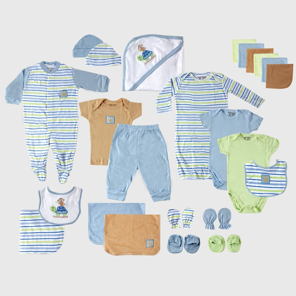Luvable Friends Baby Boys' Gift Cube, Turtle - Blue 0-6M