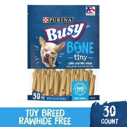 Purina Busy  Toy Breed Dog Bones Tiny - 30ct Pouch