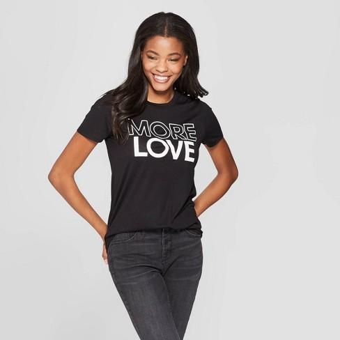 f24a4c19 Women's Short Sleeve More Love Graphic T-Shirt - Modern Lux (Juniors ...