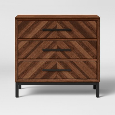 Rochester Parquet 3 Drawer Dresser Brown - Threshold™