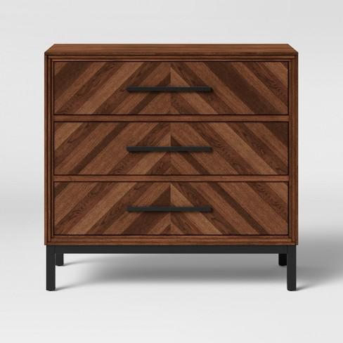 Rochester Parquet 3 Drawer Dresser Brown - Threshold™ - image 1 of 3