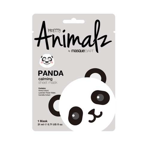 Pretty Animalz by Masque Bar Panda Calming Facial Sheet Mask - 1ct - image 1 of 1
