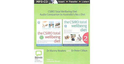 CSIRO Total Wellbeing Diet : Audio Companion to Australia's No.1 Diet (Unabridged) (MP3-CD) (Manny - image 1 of 1