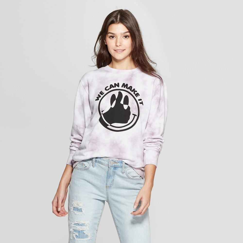Women's We Can Make It Sweatshirt - Mighty Fine (Juniors') - Gray XL, White