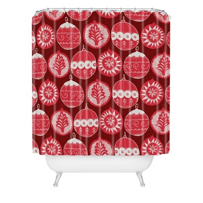 Gabriela Fuente Noel Shower Curtain Red - Deny Designs