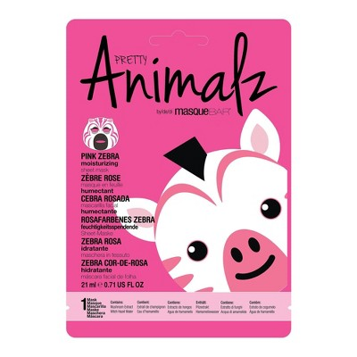 Masque Bar Pretty Animalz Pink Zebra Sheet Mask - 0.71 fl oz