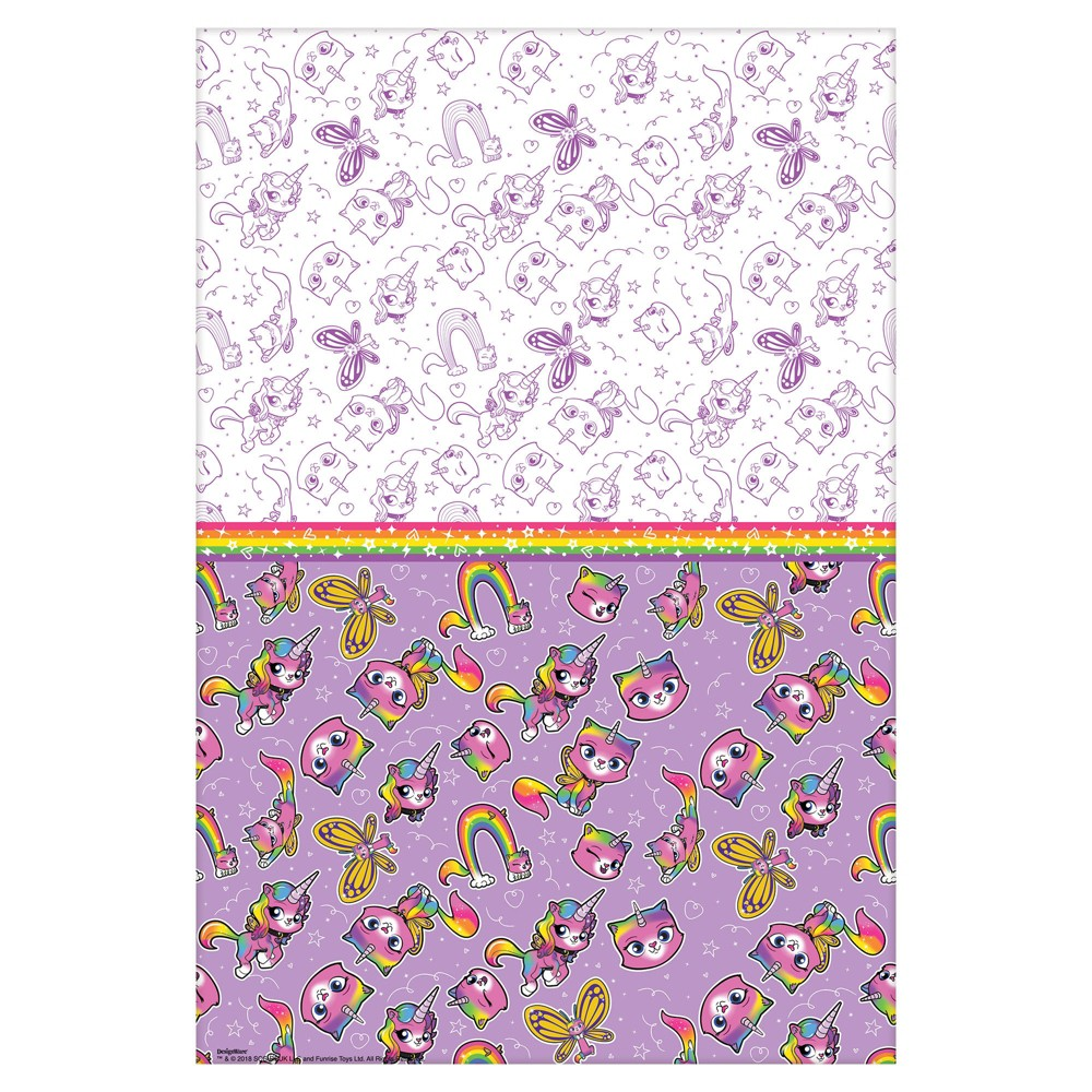Rainbow Butterfly UnicornKitty Tablecover - Amscan, Multi-Colored