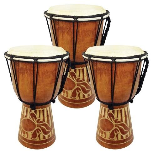 JamTown World Music Djembe Jr. Drum Set - Set of 3 - image 1 of 4