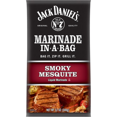 Jack Daniel's Marinade in a Bag Smoky Mesquite Liquid Marinade - 12oz - image 1 of 2