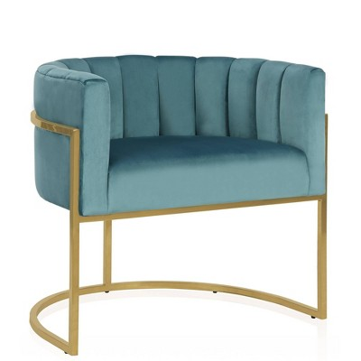 Rooney Accent Chair Teal - CosmoLiving by Cosmopolitan