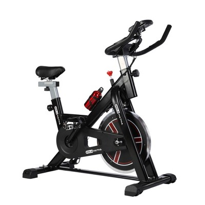 HolaHatha HH0181-A Indoor Home Gym Equipment Cycling Strength Training Exercise Spin Bike with 18 Pound Flywheel and Adjustable Handlebars