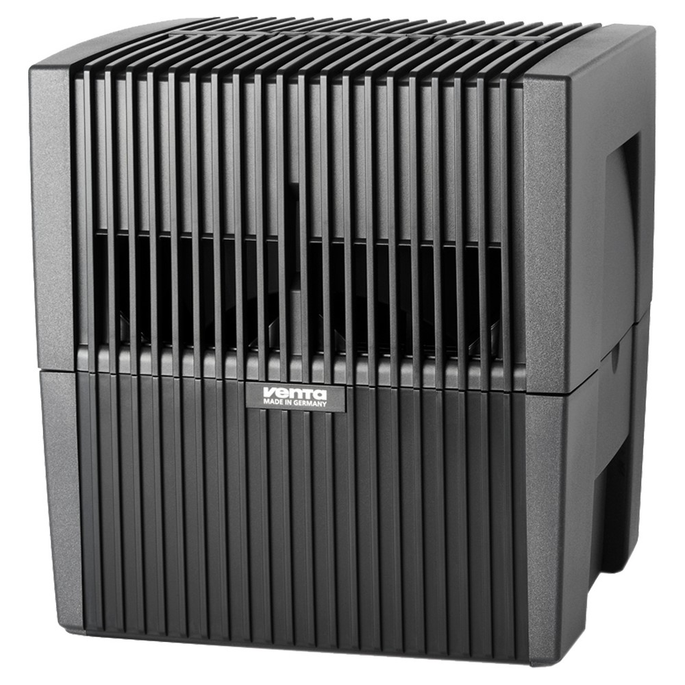 Venta - LW25 Airwasher Humidifier/Air Purifier 2-1 - Gray With its sleek construction and high-efficiency, the Airwasher is the most powerful 2-in-1 humidifier and purifier on the market today. Every Venta Airwasher incorporates our revolutionary Cold-Water Evaporation technology and operates with a whisper-quiet, multi-speed motor, putting the perfect amount of humidity in the air without white dust or mold. Simultaneously, the Airwasher removes airborne pollutants like odors, allergens, dust and dander from the air without the use of filters. With no danger of over-humidification, the Airwasher is designed to run 24/7 giving you year-round perfect indoor air quality. Whether you choose an LW15, LW25 or LW45 Airwasher, rest assured that each model is fully recyclable and is manufactured in a facility powered entirely by wind energy. Color: Gray.