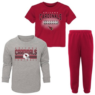 NFL Arizona Cardinals Toddler Boys' Gametime Fun T-Shirt & Pants Set 3pk