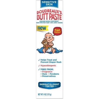 Boudreaux's Butt Paste Hypoallergenic Diaper Rash Ointment For Sensitive Skin - 4oz
