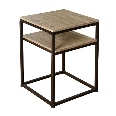 Piazza End Tables - Black/Natural - Buylateral