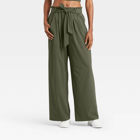 """Women's Stretch Woven Wide Leg Pants 29.5"""" - All in Motion™ - image 1 of 4"""