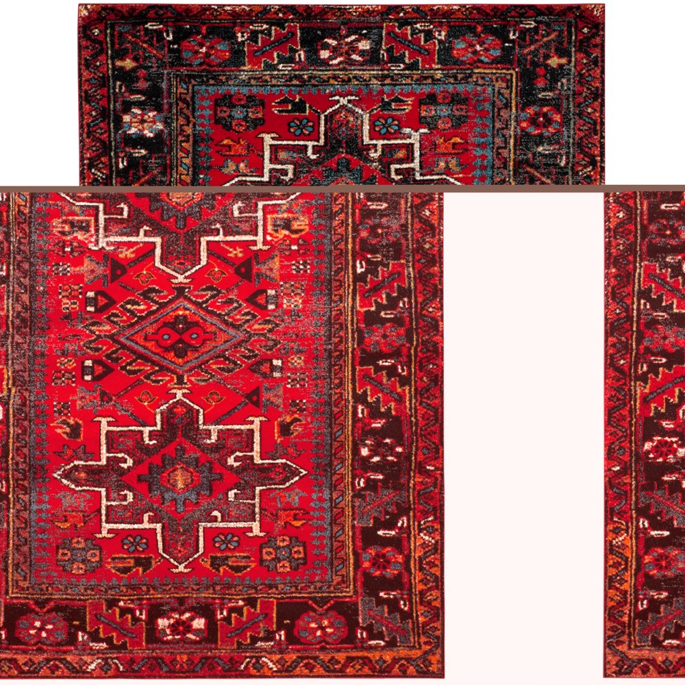 "Image of ""10'6""""X14' Loomed Tribal Design Area Rug Red - Safavieh"""