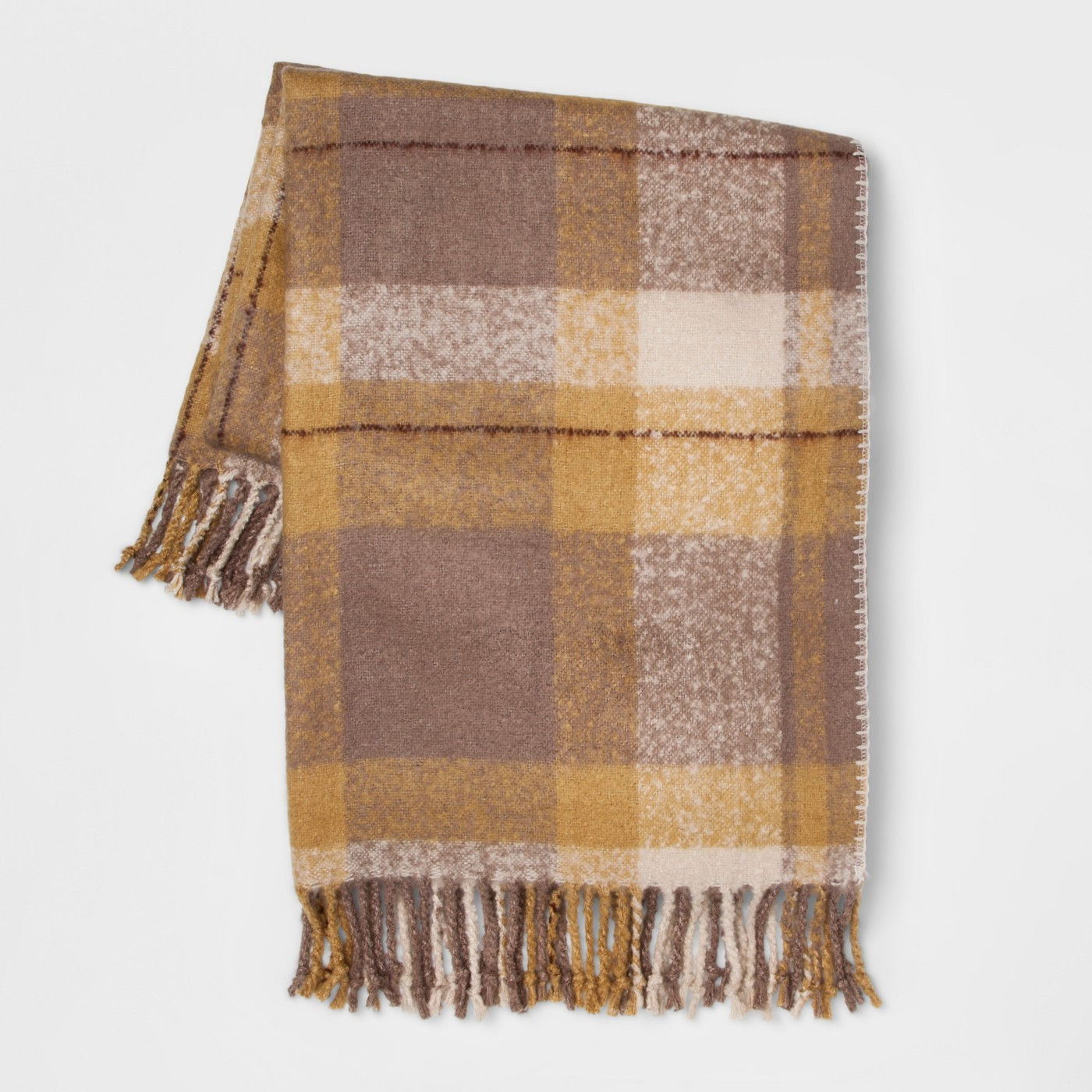 """60""""x50"""" Faux Mohair Plaid Throw Blanket - Threshold™ - image 1 of 5"""