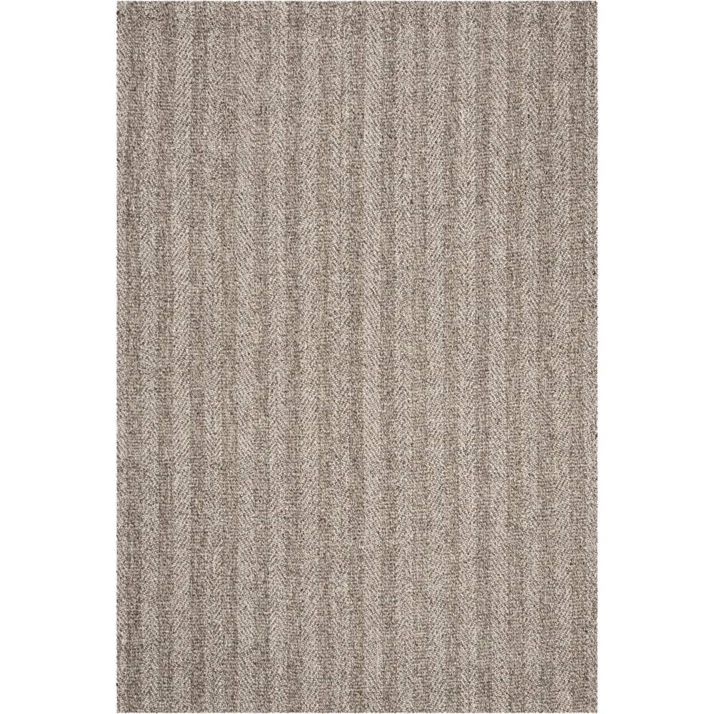 4'X6' Solid Hooked Area Rug Gray/Ivory - Safavieh