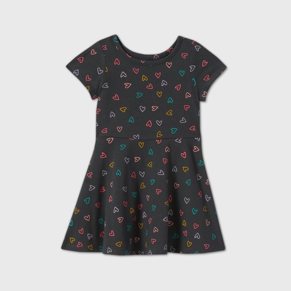 Toddler Girls 39 Knit Short Sleeve Dress Cat 38 Jack 8482 Gray 12m
