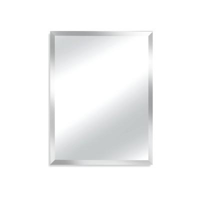"28"" X 34"" Madison Frameless Decorative Beveled Glass Wall Mirror - Alpine Art and Mirror"