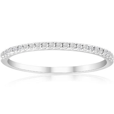 Pompeii3 1/5ct Diamond Wedding Band 10K White Gold
