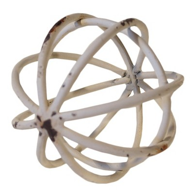 Decorative Metal Ball White (4 )- VIP Home & Garden