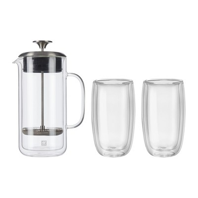 ZWILLING Sorrento Double Wall French Press and Latte Glass