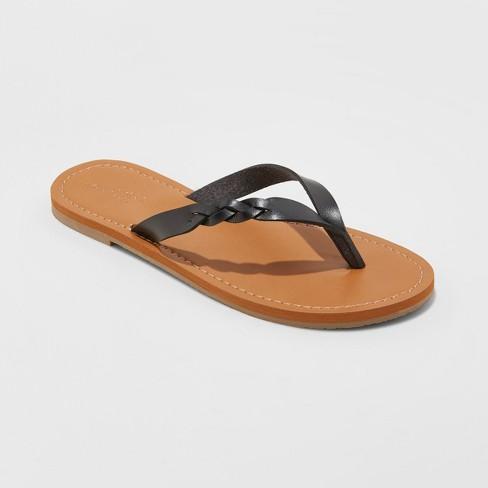 158856d4a351 Women s Bobbie Braided Thong Flip Flop Sandals - Universal Thread™   Target