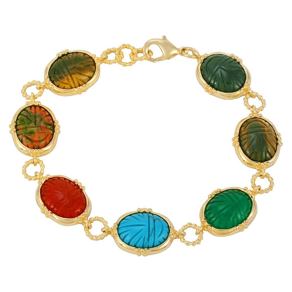 Stones Bracelet - Multi Colored, Yellow