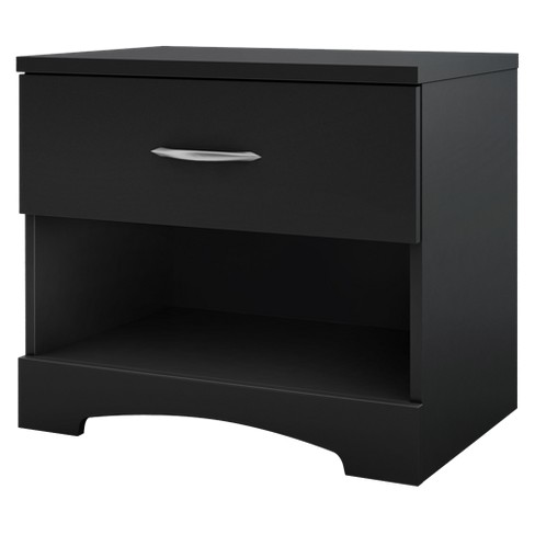 Timeless Nightstand Black - South Shore - image 1 of 4